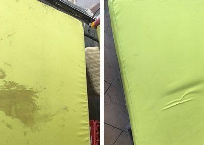 Professionelle-Polsterreinigung-Berlin-grünes-Sofa
